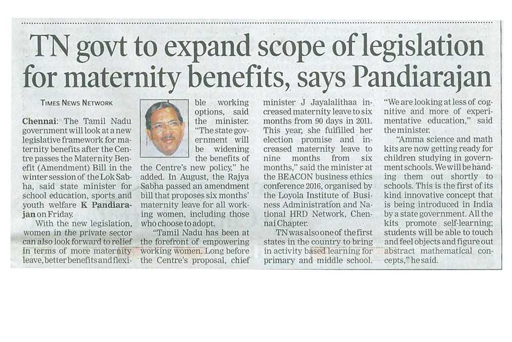 Tamil Nadu govt to expand scope of legislation for maternity benefits, says state minister for school education, sports and youth welfare K Pandiarajan