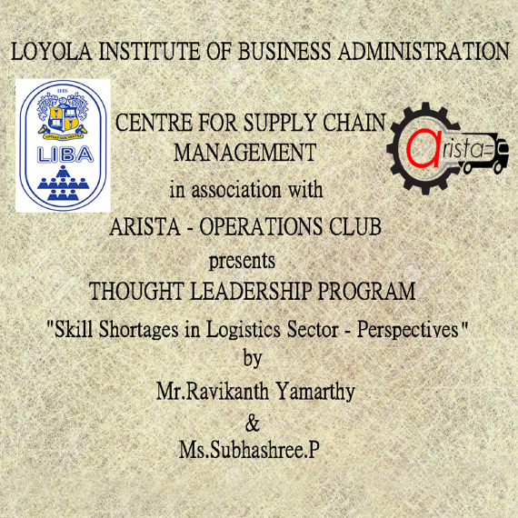 Thought Leadership Program on Skills Shortage in Logistics Sector on February 25th 2017.