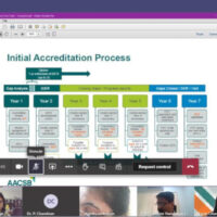 AACSB accreditation initiation process meeting